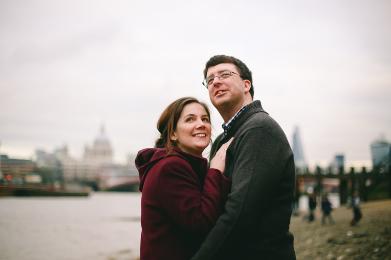 winter riverside engagement shoot in London by love oh love photography
