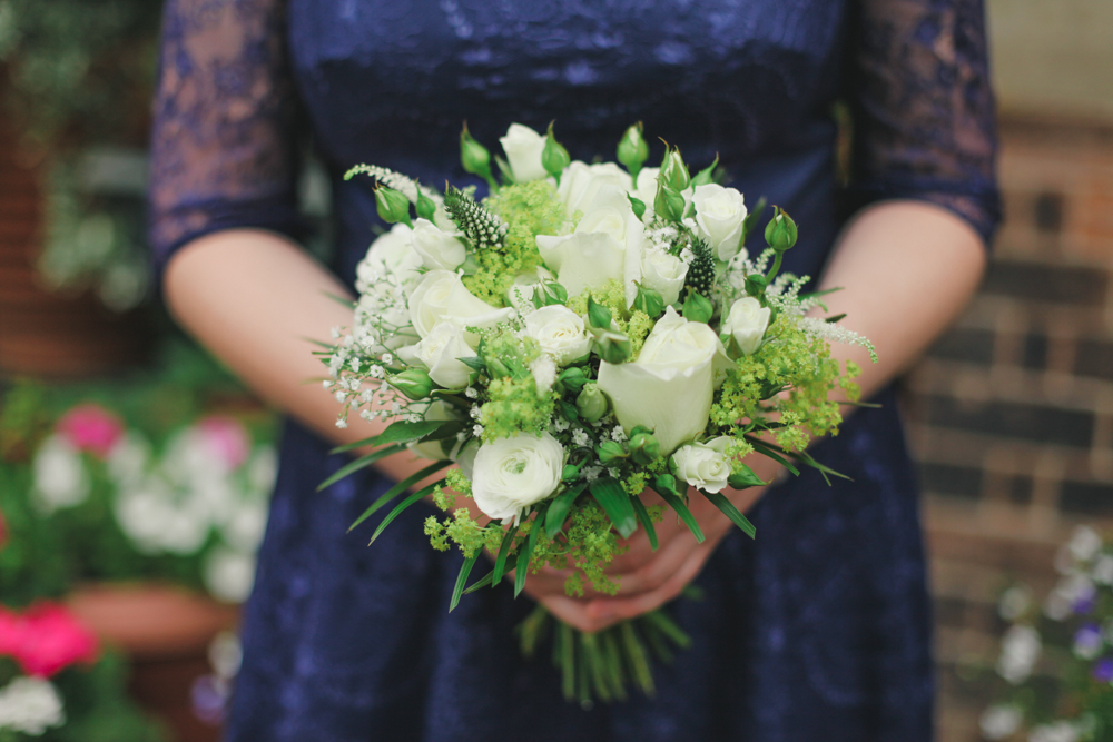 Lakeside Tower Nottingham wedding bridesmaid flowers by love oh love photography