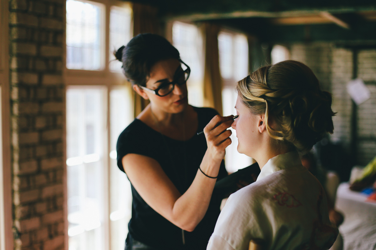 Bridal beauty at Prussia Cove, Cornwall wedding by Love Oh Love Photography