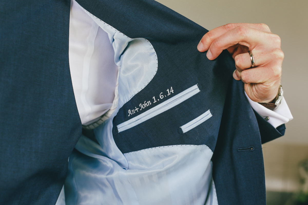 Dapper English groom Prussia Cove, Cornwall Wedding by Love Oh Love Photography