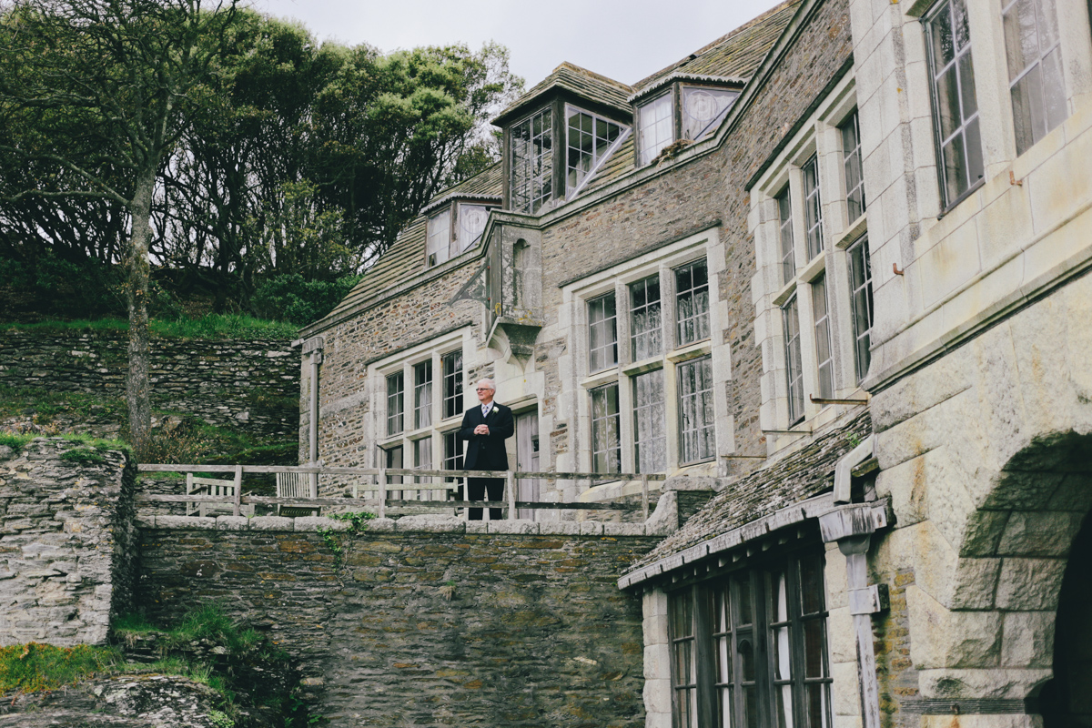 Father of the bride at Prussia Cove, Cornwall wedding by Love Oh Love Photography