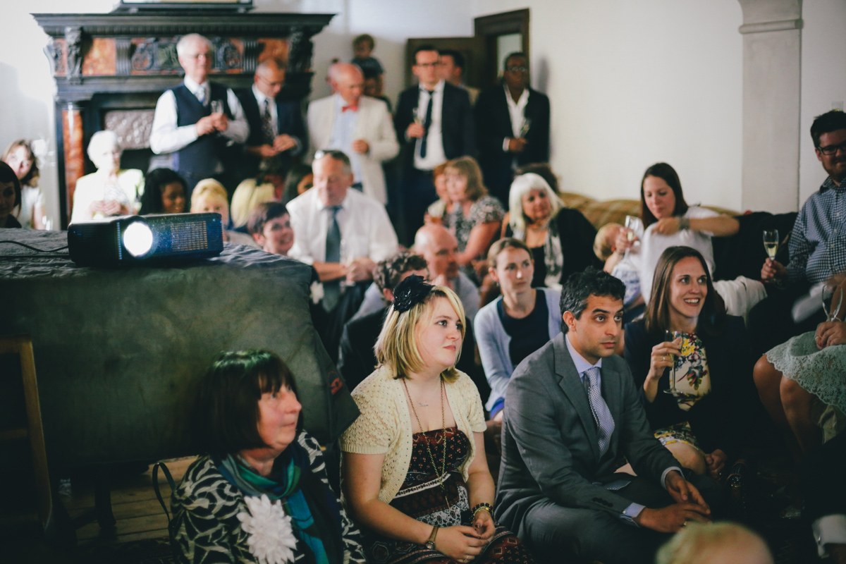 Wedding guests at Prussia Cove, Cornwall wedding by Love Oh Love Photography